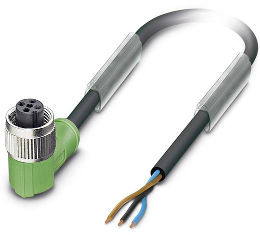 Sensor-/Aktor-Steckverbinder, konfektioniert M12 Buchse, gewinkelt 20 m Polzahl: 3 Phoenix Contact 1570173 SAC-3P-20,0-P