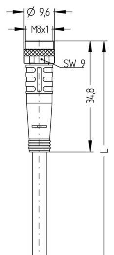 Sensor-/Aktor-Steckverbinder, konfektioniert M8 Buchse, gewinkelt 5 m Polzahl: 4 Escha 8043761 AL-SKP4-5/S370 1 St.