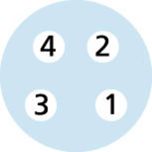 Sensor-/Aktor-Steckverbinder, konfektioniert M8 Buchse, gewinkelt 2 m Polzahl: 4 Escha 8045345 AL-SWKP4P2-2/S370 1 St.