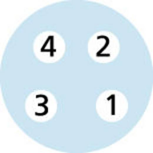 Sensor-/Aktor-Steckverbinder, konfektioniert M8 Buchse, gewinkelt 2 m Polzahl (RJ): 4 Escha 8043763 AL-SWKP4-2/S370 1 St