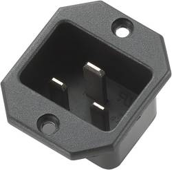 Connecteur secteur 717097 C20 embase mâle verticale Nbr total de pôles: 2 + PE 16 A noir 1 pc(s)