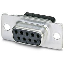 D-SUB zásuvková lišta Phoenix Contact VS-09-BU-DSUB-CD-B, 180 °, Počet pinov 9, krimpované , 10 ks