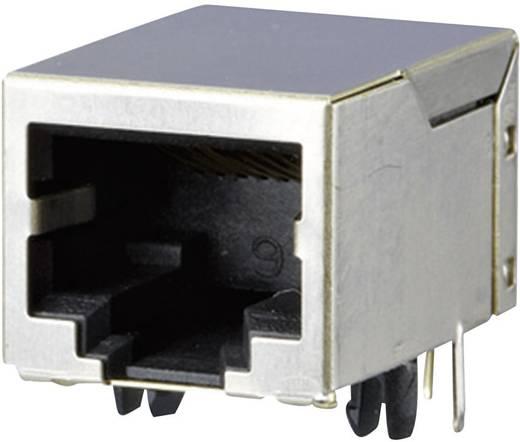 RJ45-Buchseneinsatz, geschirmt Buchse, gewinkelt Pole: 8P8C AJT65B8813 Silber Metz Connect AJT65B8813 1 St.