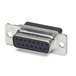 D-SUB zásuvková lišta Phoenix Contact VS-15-BU-DSUB-CD-OG, 180 °, Počet pinov 15, krimpované , 10 ks