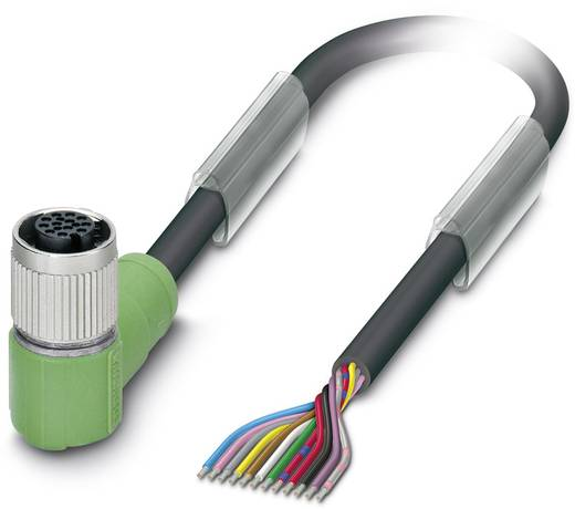 Sensor-/Aktor-Steckverbinder, konfektioniert M12 Buchse, gewinkelt 10 m Polzahl: 12 Phoenix Contact 1554937 SAC-12P-10,0