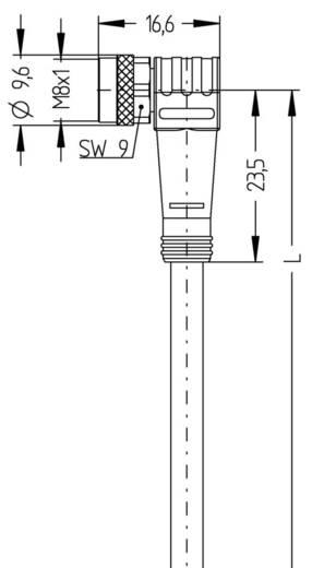 Sensor-/Aktor-Steckverbinder, konfektioniert M8 Stecker, gerade, Buchse, gewinkelt 2 m Polzahl (RJ): 4 Escha 8044026 AL-
