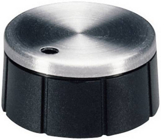 Drehknopf Aluminium, Schwarz (Ø x H) 21 mm x 10 mm OKW A1321260 1 St.