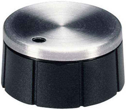 Drehknopf Aluminium, Schwarz (Ø x H) 24 mm x 12.4 mm OKW A1624260 1 St.