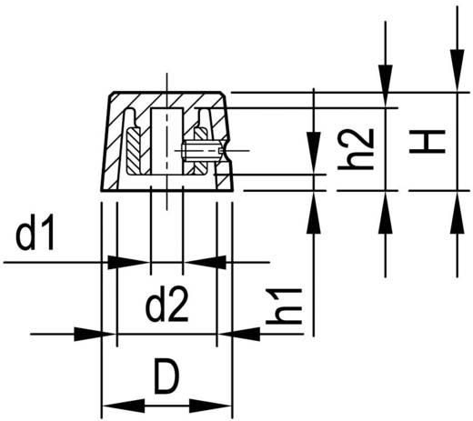 Drehknopf mit Zeiger Schwarz (Ø x H) 16.4 mm x 12.3 mm OKW A1316240 1 St.