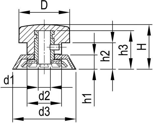 Drehknopf Schwarz (Ø x H) 41.5 mm x 25 mm OKW A1342660 1 St.