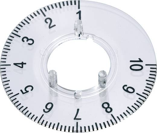 Skalenscheibe 1-10 270 ° OKW A4420060 Passend für Knopf Knopf 20 mm 1 St.