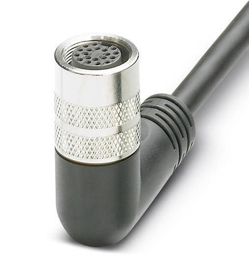 Sensor-/Aktor-Anschlussleitung M8 Buchse, gewinkelt 5 m Polzahl: 8 Phoenix Contact 1693681 SAC-8P- 5,0-PUR/M16FR 1 St.