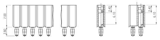 Buchsenleiste (Präzision) Anzahl Reihen: 1 Polzahl je Reihe: 2 W & P Products 153PF-002-1-50-00 1 St.