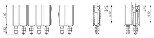 W & P Products Buchsenleiste (Präzision) Anzahl Reihen: 1 Polzahl je Reihe: 8 153PF-008-1-50-00 1 St.