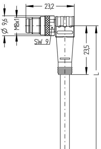 Sensor-/Aktor-Steckverbinder, konfektioniert M8 Stecker, gewinkelt 2 m Polzahl: 4 Escha 8043769 AL-SWSP4-2/S370 1 St.