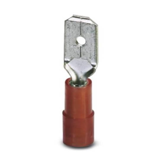 Flachstecker Steckbreite: 6.3 mm Steckdicke: 0.8 mm 180 ° Teilisoliert Rot Phoenix Contact 3240058 100 St.