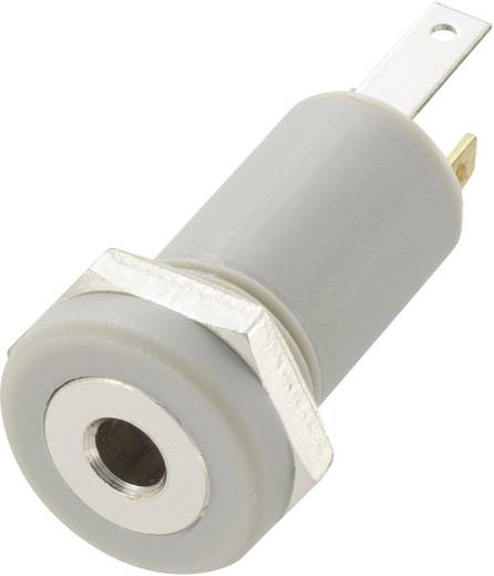 Klinken-Steckverbinder 2.5 mm Buchse, Einbau vertikal Polzahl: 4 Stereo Grau Conrad Components 1 St.