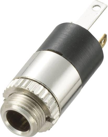 Klinken-Steckverbinder 3.5 mm Buchse, Einbau vertikal Polzahl: 2 Stereo Silber Conrad Components 1 St.