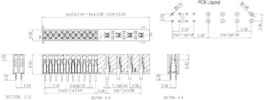 Stiftleiste (Standard) Anzahl Reihen: 1 Polzahl je Reihe: 12 W & P Products 397-24-04-50-50 1 St.