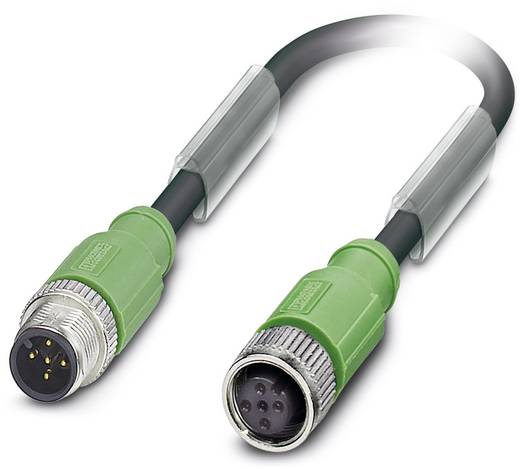 Sensor-/Aktor-Steckverbinder, konfektioniert M12 Stecker, gerade, Buchse, gerade 3 m Polzahl: 5 Phoenix Contact 1500910