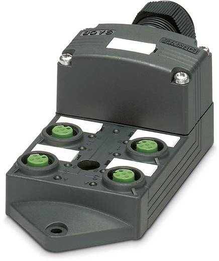 Sensor/Aktorbox passiv M12-Verteiler mit Kunststoffgewinde SACB-4/ 4-L-C SCO P 1452806 Phoenix Contact 1 St.