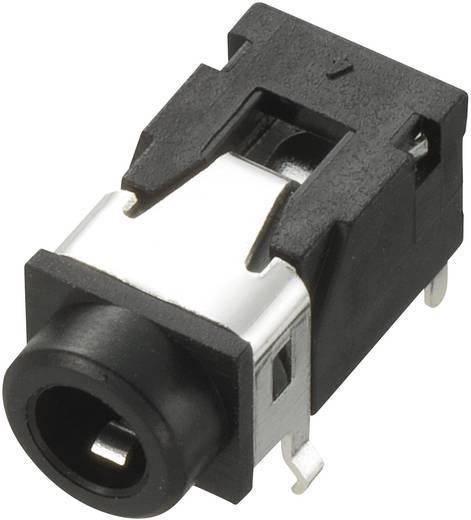 Klinken-Steckverbinder 3.5 mm Buchse, Einbau horizontal Polzahl: 4 Stereo Schwarz Conrad Components 1 St.