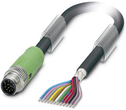 Sensor-/Aktor-Steckverbinder, konfektioniert M12 Stecker, gerade 5 m Polzahl (RJ): 12 Phoenix Contact 1430064 SAC-12P-MS
