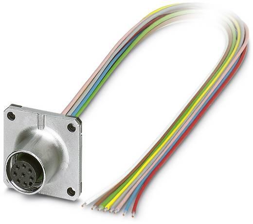 Sensor-/Aktor-Einbausteckverbinder M12 Buchse, Einbau 0.50 m Polzahl: 8 Phoenix Contact 1441697 SACC-SQ-M12FS-8CON-20/0,