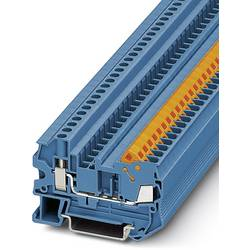 Řadová svorka průchodky Phoenix Contact QTCU 2,5 BU 3206542, 50 ks, modrá