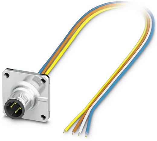Sensor-/Aktor-Einbausteckverbinder M12 Stecker, Einbau 0.50 m Polzahl: 4 Phoenix Contact 1441626 SACC-SQ-M12MSD-4CON-20/