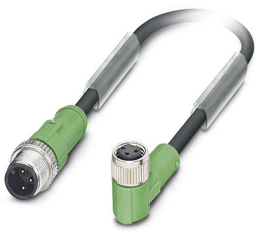 Sensor-/Aktor-Steckverbinder, konfektioniert M8 Stecker, gerade, Buchse, gerade 5 m Polzahl: 3 Phoenix Contact 1538474 S