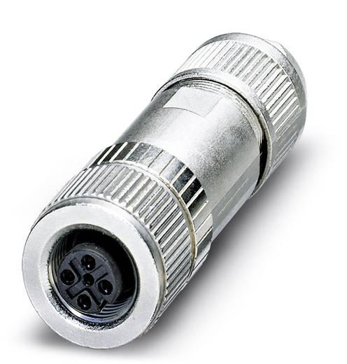 Sensor-/Aktor-Datensteckverbinder M12 Buchse, gerade Polzahl (RJ): 4 Phoenix Contact 1554526 SACC-M12FSD-4Q SH PN 1 St.