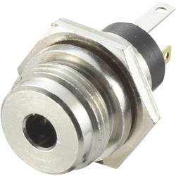 Jack konektor 3.5 mm stereo zásuvka, vstavateľná vertikálna TRU COMPONENTS 3, strieborná, 1 ks