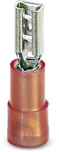 Flachsteckhülse Steckbreite: 4.8 mm Steckdicke: 0.8 mm 180 ° Teilisoliert Rot Phoenix Contact 3240051 100 St.