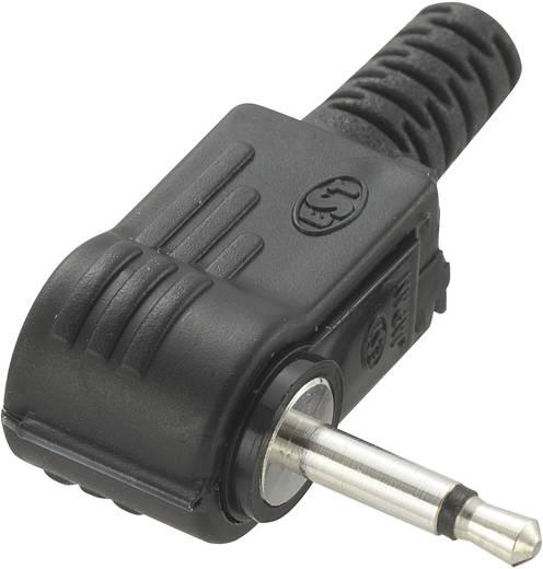 Klinken-Steckverbinder 2.5 mm Stecker, gewinkelt Polzahl: 2 Mono Schwarz Conrad Components 1 St.