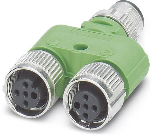 Sensor-/Aktor-Verteiler und Adapter M12 Adapter, Y-Form Polzahl: 4 Phoenix Contact 1523971 SAC-3P-Y/2XFS PE SCO 5 St.