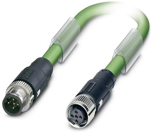 Sensor-/Aktor-Datensteckverbinder, konfektioniert M12 Stecker, gerade, Buchse, gerade 2 m Polzahl (RJ): 5 Phoenix Contac