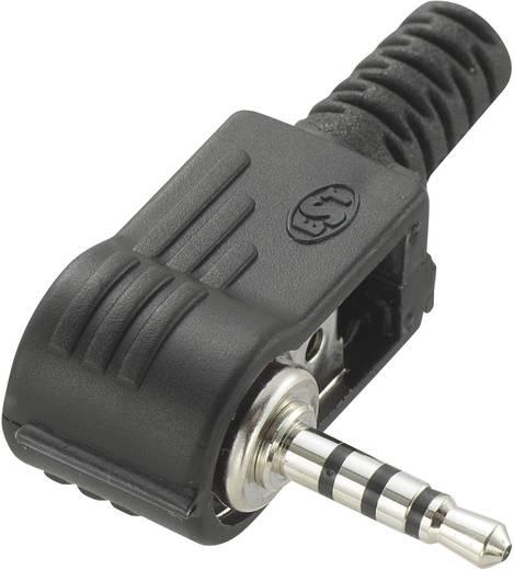 Klinken-Steckverbinder 2.5 mm Stecker, gewinkelt Polzahl: 4 Stereo Schwarz Conrad Components 1 St.