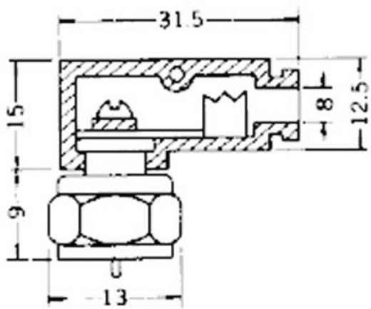 F-Stecker mit Schraubanschluss Gewinkelt Lötfrei