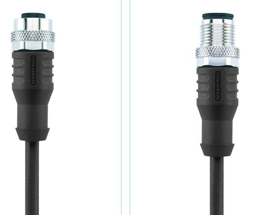 Sensor-/Aktor-Steckverbinder, konfektioniert M12 Stecker, gerade, Buchse, gerade 2 m Polzahl: 4 Escha 8046282 AL-WAKS4-2