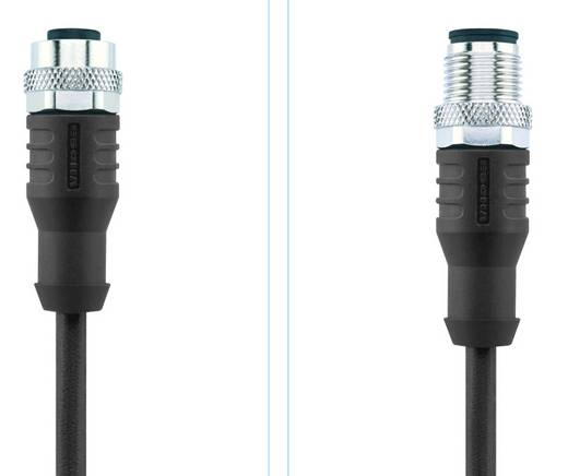 Sensor-/Aktor-Steckverbinder, konfektioniert M12 Stecker, gerade, Buchse, gerade 5 m Polzahl: 5 Escha 8044054 AL-WAK4.5-