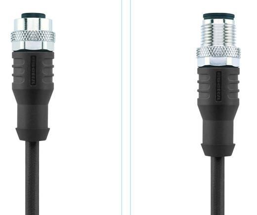 Sensor-/Aktor-Steckverbinder, konfektioniert M12 Stecker, gerade, Buchse, gerade 5 m Polzahl (RJ): 4 Escha 8046283 AL-WA
