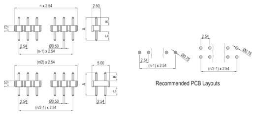 Stiftleiste (Präzision) Anzahl Reihen: 1 Polzahl je Reihe: 2 W & P Products 952-08-002-1-00 1 St.