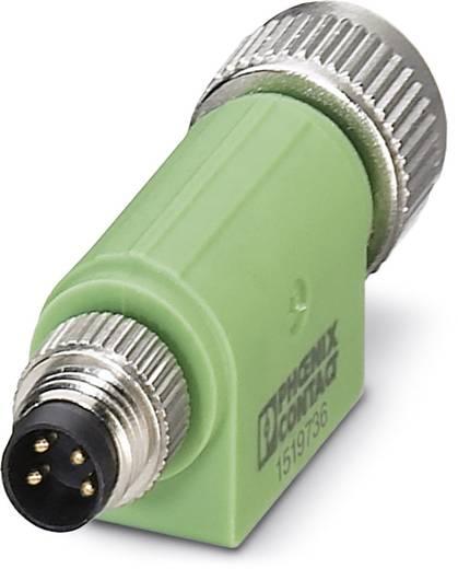 Sensor-/Aktor-Verteiler und Adapter M8, M12 Adapter, gerade Polzahl: 3 Phoenix Contact 1519736 SAC-4P-M 8MS-M12FS 5 St.