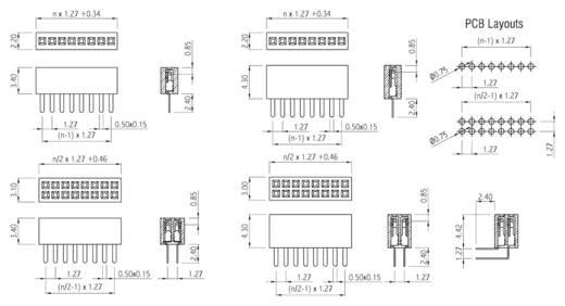 Buchsenleiste (Standard) Anzahl Reihen: 1 Polzahl je Reihe: 3 W & P Products 605-003-1-1-2-00 1 St.