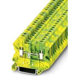 Řadová svorka průchodky Phoenix Contact UT 4-MTD-PE 3046223, 50 ks, zelenožlutá