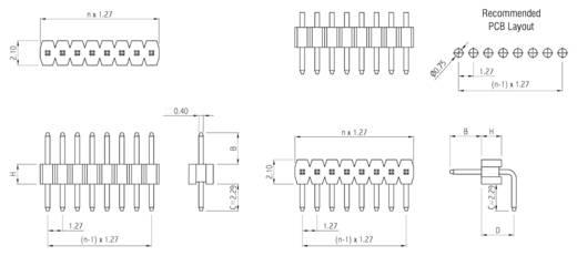 Stiftleiste (Standard) Anzahl Reihen: 1 Polzahl je Reihe: 14 W & P Products 707-1-14-1-20-00 1 St.
