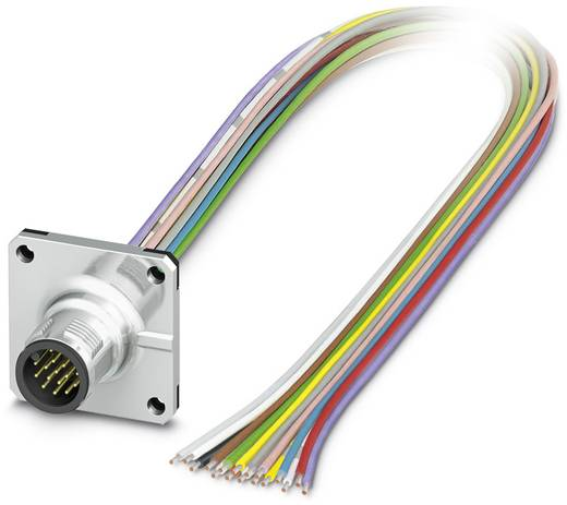 Sensor-/Aktor-Einbausteckverbinder M12 Stecker, Einbau 0.50 m Polzahl (RJ): 17 Phoenix Contact 1441600 SACC-SQ-M12MS-17C