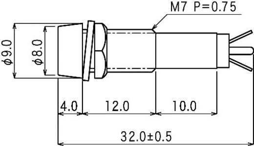 Standard Signalleuchte mit Leuchtmittel Rot BN-0751 RED Sedeco 1 St.