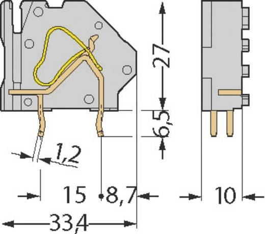 Federkraftklemmblock 16.00 mm² Polzahl 2 745-502/006-000 WAGO Grau 1 St.